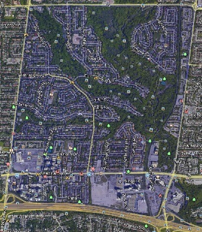Bayview Village North York Toronto Houses Homes Detached Semi-Detached Town Map