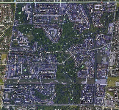 Bayview Woods North York Toronto Houses Homes Detached Semi-Detached Map