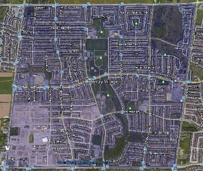 Berczy Markham Houses Homes Detached  Semi-Detached Link Town Map