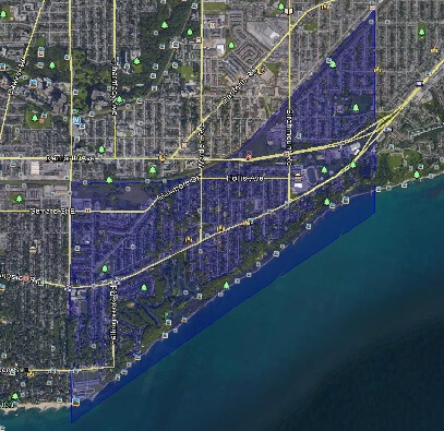 Birch Cliff Toronto Houses Homes Detached Semi-Detached Town Map