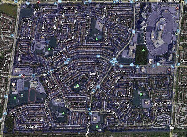 Brownridge Vaughan Thornhill Homes Houses Map