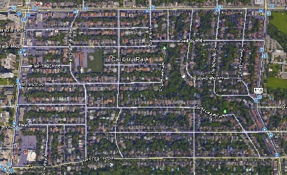 Caribou Park Uptown Toronto Houses Homes Detached 2-Storey Map