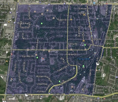 Central Newmarket Homes Houses Detached Semi-Detached Town Map