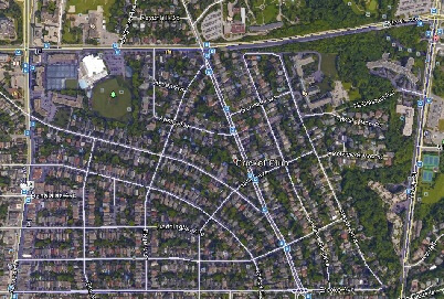Cricket Club Uptown Toronto Houses Homes Detached 2-Storey Map