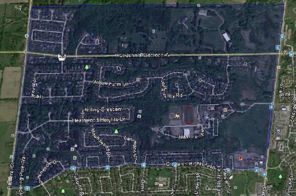 Hills Of St Andrew Aurora Homes Houses Detached Semi Town Map