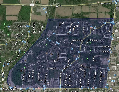 Huron Heights Leslie Valley Newmarket Homes Houses Detached Semi-Detached Map