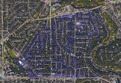 Kingsway Park Toronto Houses Homes Detached Semi-Detached Town Map