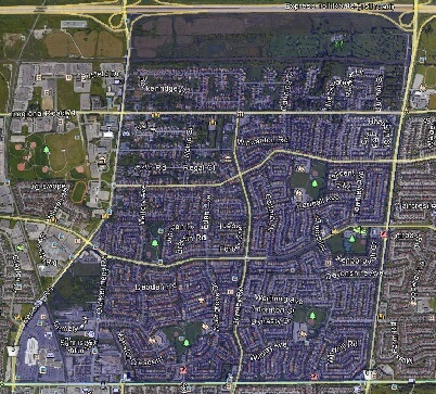 Milliken Mills East Markham Houses Homes Detached Link Semi-Detached Town Map