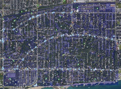 The Beaches Toronto Houses Homes Detached Semi-Detached Town Map