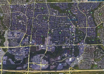 Unionville Markham Houses Homes Detached Semi-Detached Link Town Map