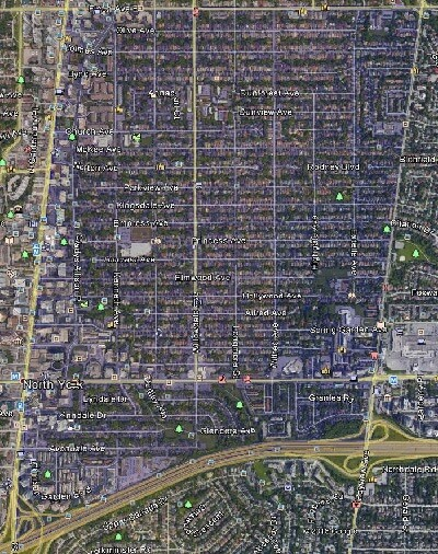 Willowdale East North York Toronto Houses Homes Detached Town Map
